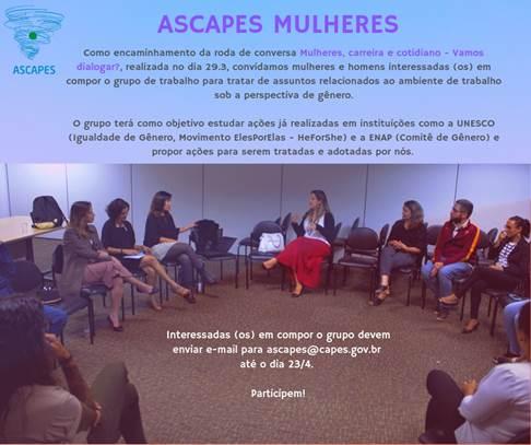 Convite para compor GT ASCAPES MULHERES
