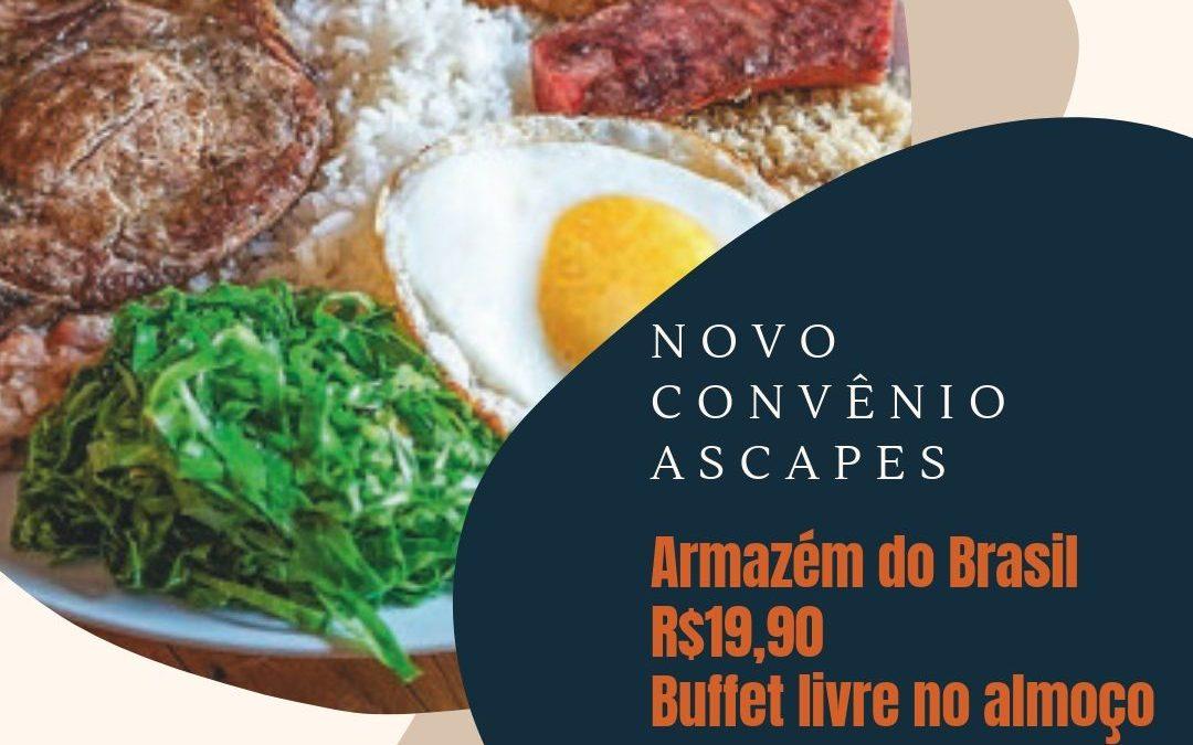 Novo convênio: ASCAPES e Armazém do Brasil