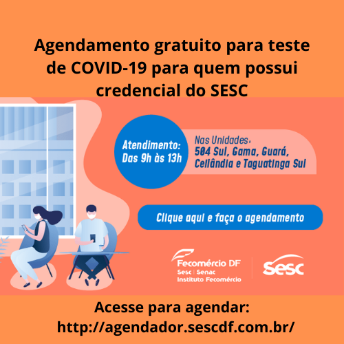 ASCAPES CONVÊNIOS: Agendamento gratuito para teste de COVID-19 – SESC